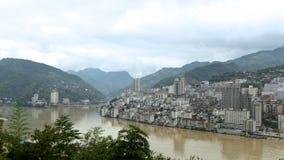 Ciudad de la montaña Fotografía de archivo libre de regalías