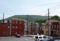 Ciudad de la montaña de Pottsville Pennsylvania Fotos de archivo