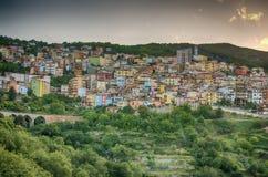 Ciudad de la montaña - Lanusei (Cerdeña, Italia) imagen de archivo