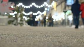 Ciudad de la muchedumbre de la Navidad metrajes