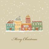 Ciudad de la Navidad Foto de archivo libre de regalías