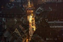 Ciudad de la Navidad desde arriba Fotografía de archivo libre de regalías