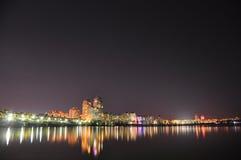 Ciudad de la noche Imagen de archivo libre de regalías