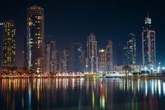 Ciudad de la noche Fotografía de archivo libre de regalías