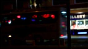 Ciudad de la noche almacen de metraje de vídeo
