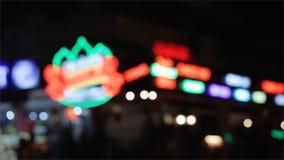Ciudad de la noche almacen de video