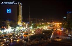 Ciudad de la noche de Shiraz imágenes de archivo libres de regalías