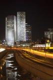Ciudad de la noche de Tel Aviv Foto de archivo libre de regalías
