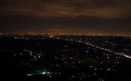 Ciudad de la noche de Yogyakarta imagenes de archivo