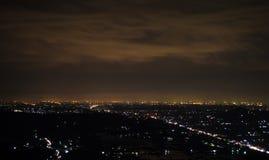 Ciudad de la noche de Yogyakarta fotos de archivo