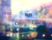 Ciudad de la noche moderna fotos de archivo libres de regalías