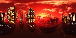 Ciudad de la noche, rascacielos de la noche imagen de archivo libre de regalías