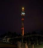 Ciudad de la noche Tampere, Finlandia Imagen de archivo