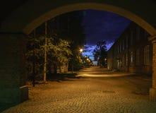 Ciudad de la noche Tampere, Finlandia Fotografía de archivo