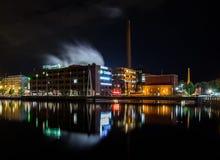Ciudad de la noche Tampere, Finlandia Fotografía de archivo libre de regalías