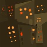 Ciudad de la noche Vector Imagenes de archivo