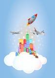 Ciudad de la nube Imágenes de archivo libres de regalías