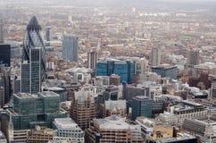 Ciudad de la opinión aérea de Londres Imágenes de archivo libres de regalías
