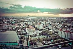 Ciudad de la opinión de Bangkok Imágenes de archivo libres de regalías