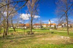 Ciudad de la opinión del parque de Lubreg Foto de archivo