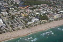 Ciudad de la playa de Deerfield Imagenes de archivo