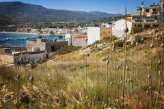 Ciudad de la playa de Sitia Grecia fotos de archivo libres de regalías