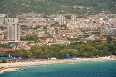 Ciudad de la playa de Varna Foto de archivo libre de regalías