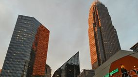 Ciudad de la puesta del sol imágenes de archivo libres de regalías