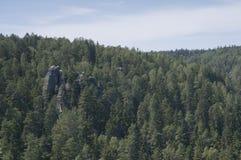 Ciudad de la roca de Adrspach Fotografía de archivo libre de regalías