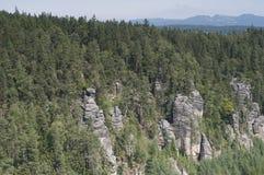 Ciudad de la roca de Adrspach Imagenes de archivo
