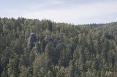Ciudad de la roca de Adrspach Imagen de archivo libre de regalías