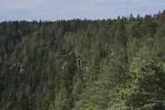 Ciudad de la roca de Adrspach Imágenes de archivo libres de regalías