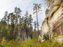Ciudad de la roca - Adrspach Fotos de archivo