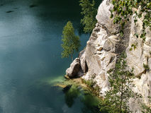 Ciudad de la roca Adrspach-Teplice Foto de archivo