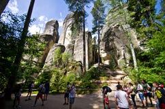 Ciudad de la roca de Adrspach Teplice Imagen de archivo libre de regalías