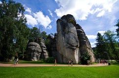 Ciudad de la roca de Adrspach Teplice Fotos de archivo
