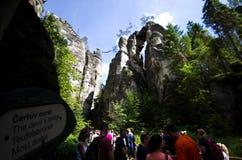 Ciudad de la roca de Adrspach Teplice Imagenes de archivo