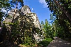 Ciudad de la roca de Adrspach Teplice Imagen de archivo