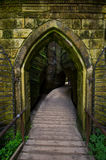 Ciudad de la roca de Adrspach Teplice - la puerta Foto de archivo libre de regalías