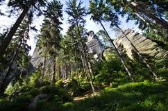Ciudad de la roca en Adrspach Imagen de archivo libre de regalías