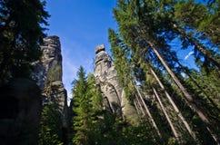 Ciudad de la roca en Adrspach Imágenes de archivo libres de regalías