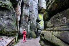 Ciudad de la roca en Adrspach, República Checa Fotos de archivo