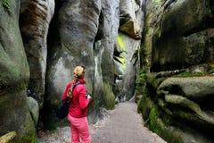 Ciudad de la roca en Adrspach, República Checa Imagenes de archivo