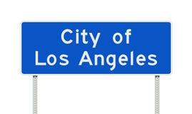 Ciudad de la señal de tráfico de Los Ángeles ilustración del vector