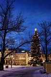 Ciudad de la sensación de la Navidad Imagen de archivo libre de regalías