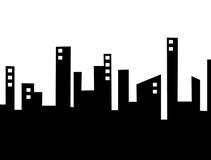 Ciudad de la silueta libre illustration