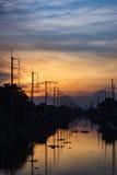 Ciudad de la sombra Foto de archivo libre de regalías