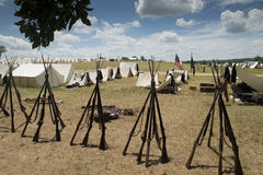 Ciudad de la tienda de la guerra civil Imagen de archivo
