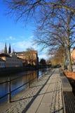 Ciudad de la universidad, Uppsala Fotos de archivo