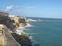 Ciudad de La Valeta - Malta Foto de archivo libre de regalías